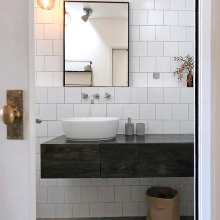 Monochrome bathroom