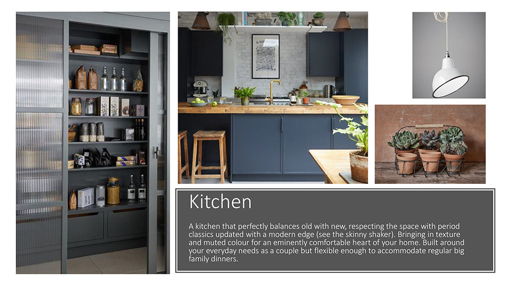 Example of colour schemes for a kitchen