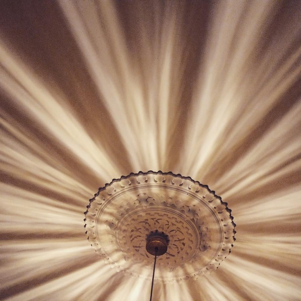 Overhead lighting effect