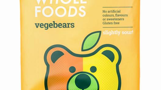 Vegebears Slightly Sour Organic Fruit Jellies (100g)
