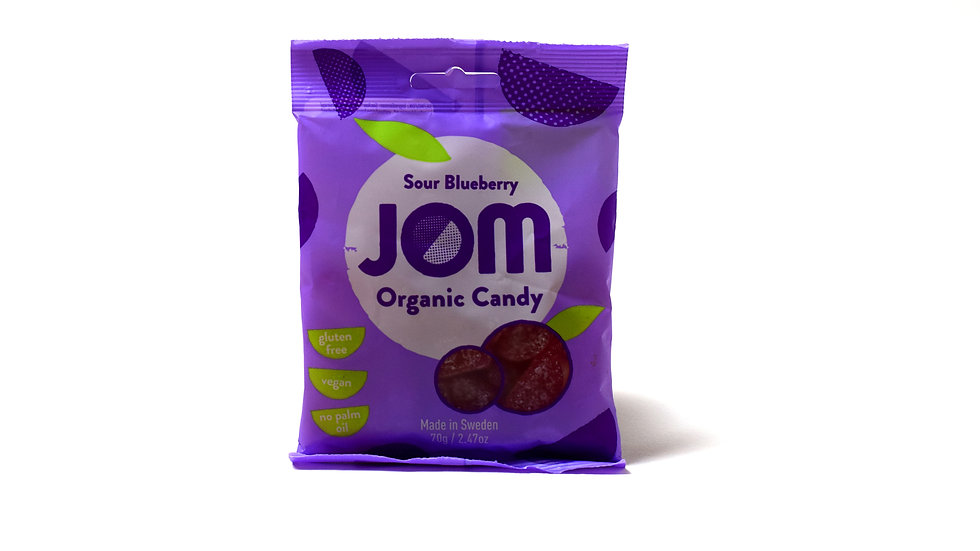 Sour Blueberry Jom Organic Candy (70g)