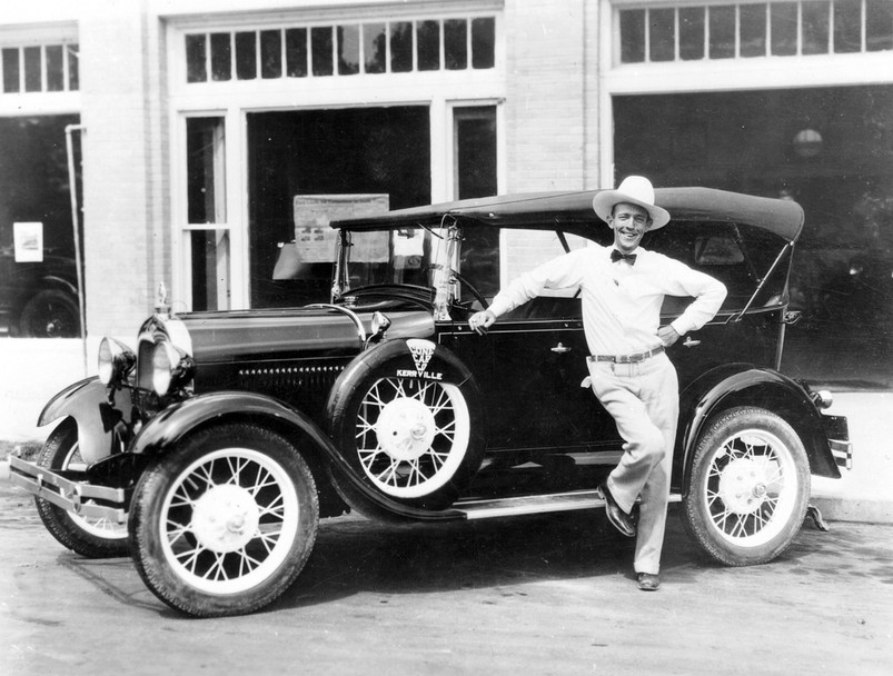 Jimmie Rodgers with Model A