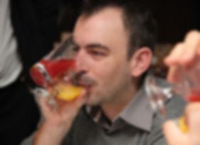 Jeu verres collés cocktail décomposé