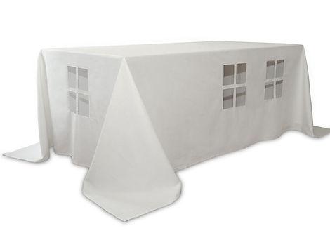 Jeu nappe cabane fenêtre pique-nique sous la table