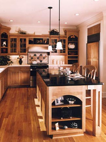 Complete kitchen replacement with custom island.
