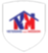 Veterans Next Mission - with VNM creating a house shape. A soildier shape is coming through the V and M.