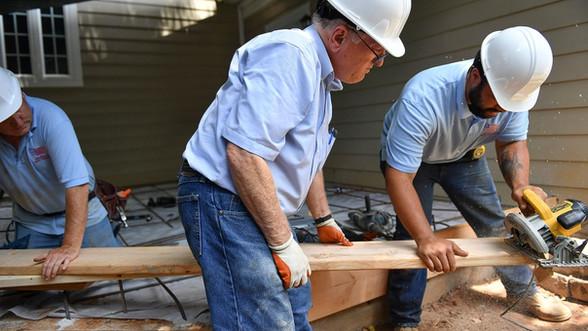 Bob Luckett on the job site with Scotty Lett.