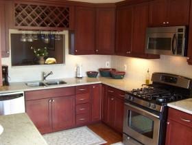 Custom wine rack in a new kitchen remodel.