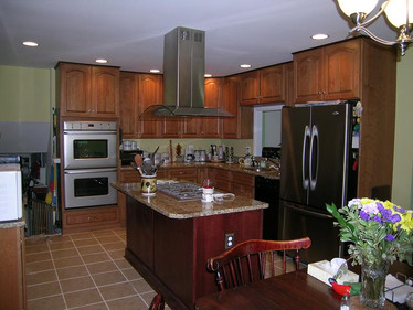 Completely new kitchen.