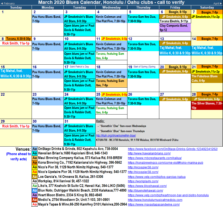 Hawaii Blues Calendar 2020 03 Mar.png