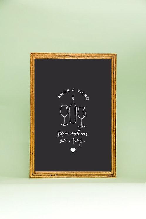 Caixa Porta Rolhas    Amor e Vinho