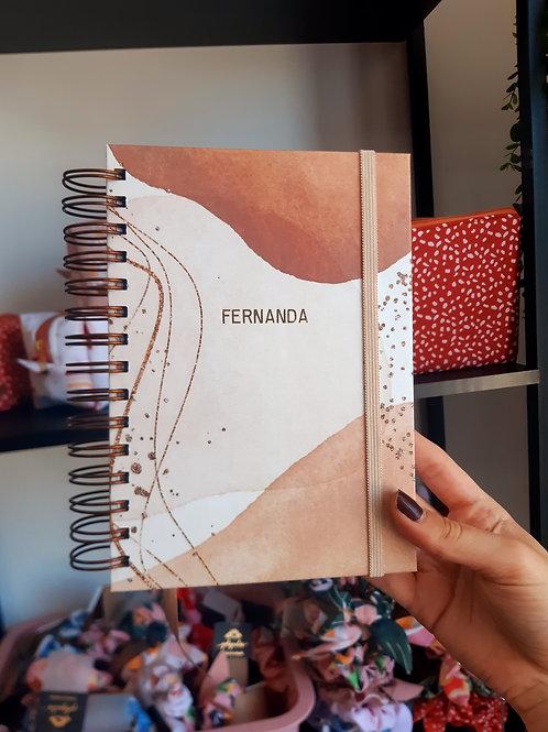 Caderno Médio Terracota