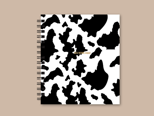 Planner Cow Print