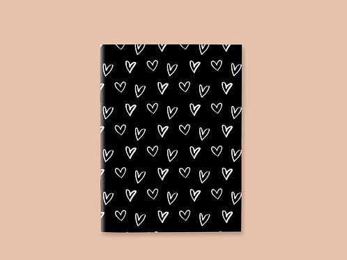 Caderno Costurado Heart