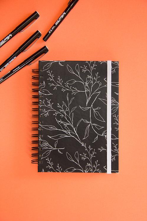 Caderno Médio Botanical Lines