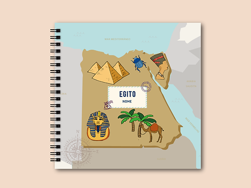 Álbum Scrapbook Egito