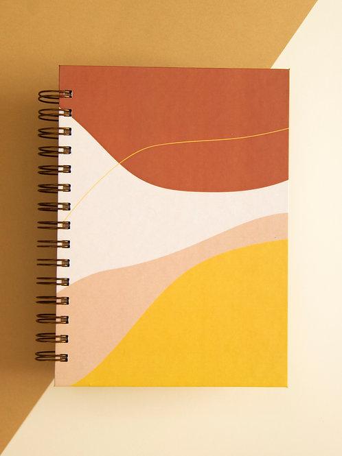 Caderno Médio Abstrato Comfy