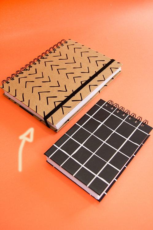 Caderno Médio Arrow Kraft
