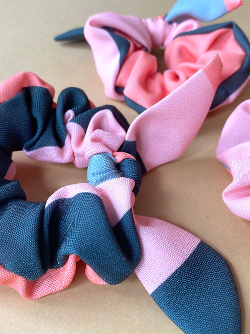 Scrunchie Listrado Tropical