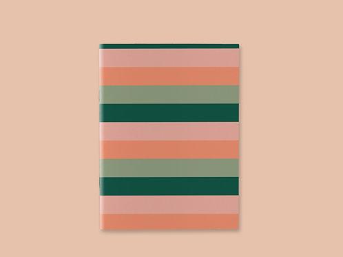 Caderno Costurado Listrado Tropical