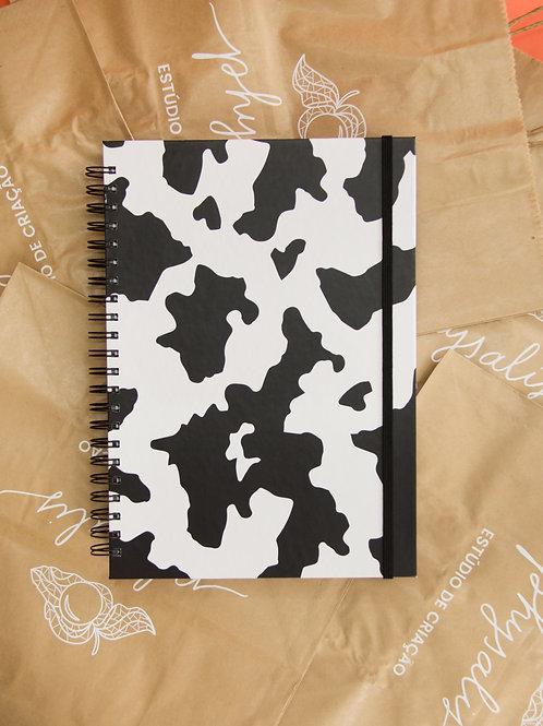 Caderno Grande Cow Print