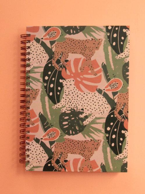 Caderno Grande Ousada na Floresta