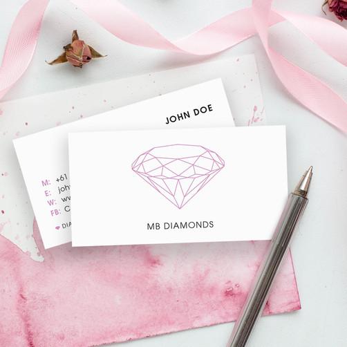 MB Diamonds business card
