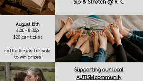 Sip and Stretch August 13th!