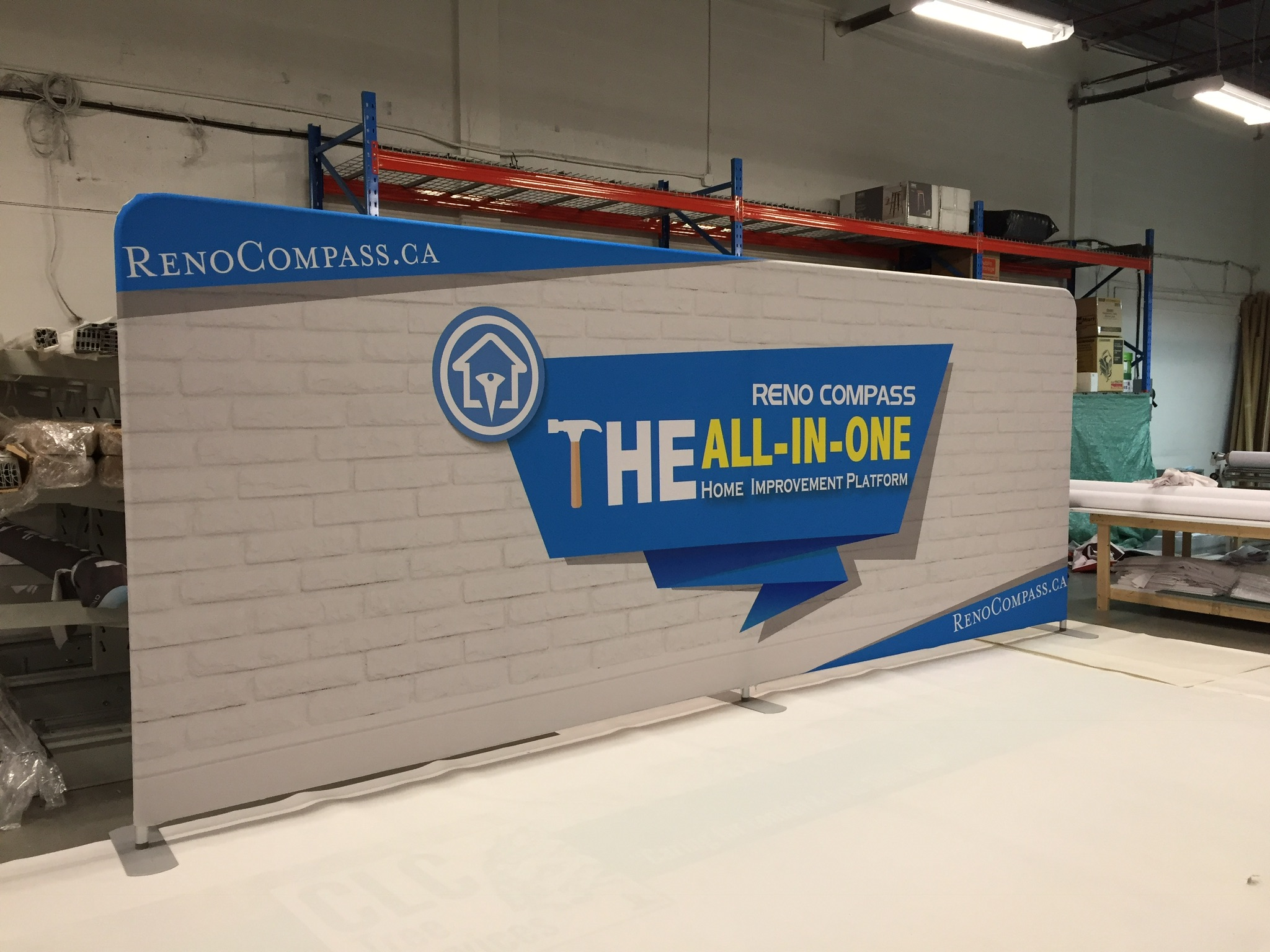 20' Fabric Tension Wall