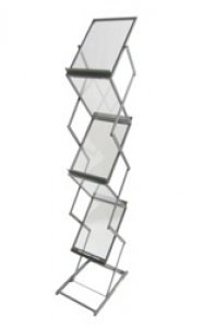 Collapsible 6-Shelf Portable Literature Stand