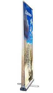 "33"" x 79"" Banner Supreme DS Retractable Banner Stand"