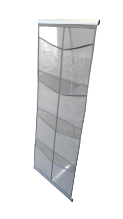 8-Pocket Meshed Literature Stand