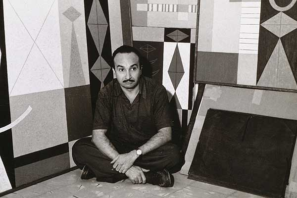 Mario Carreño at his estudio c1950's