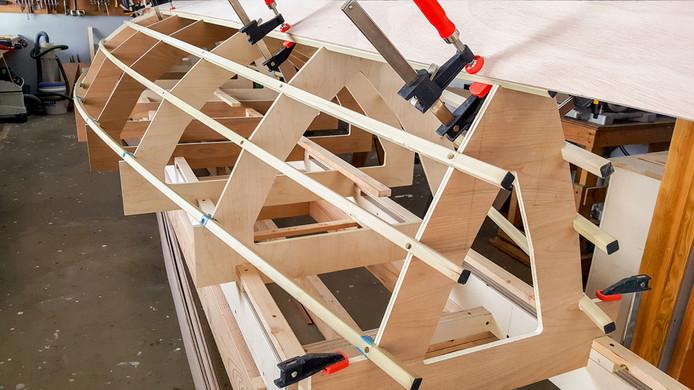 027 - Stern view of garboard strakes dry