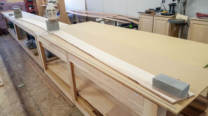 Planks 3 glued to length