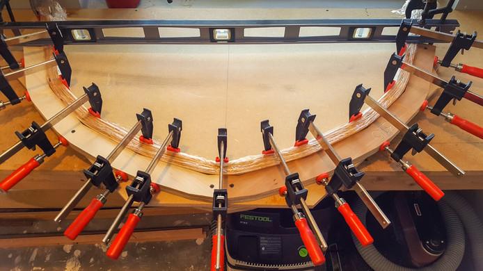 041 - Frame 4315 glue lam clamped in mou