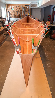 046 - Dry fitting inwales - stern view.j