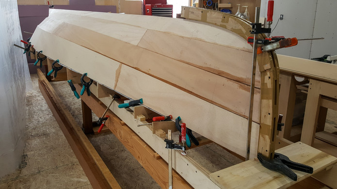 All planks glued in place.