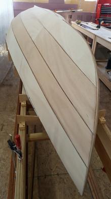 Initial fairing of hull.