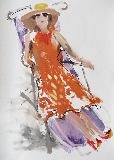 Sophie Bartlett, Orange recliner