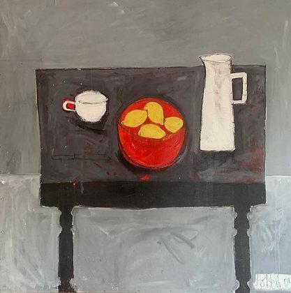 Lizbeth Holstein, Still Life with Lemons