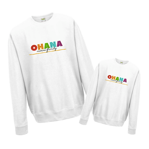 PRE-ORDER JUST LIKE ME BUNDLE OHANA Embroidered Sweatshirt