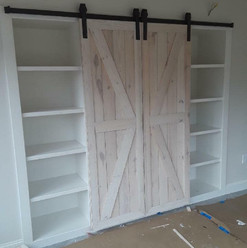 Custom Barn Door & Storage