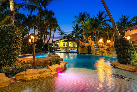 Twilight photography lake worth florida, residential pool