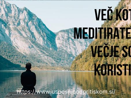 Kako več meditirati?