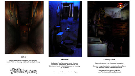 Various Haunted House Scenic