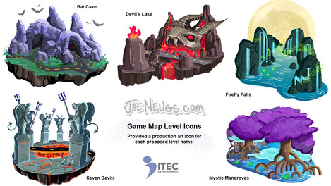 Game Map Level Icons