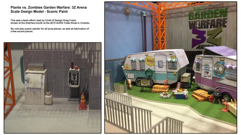 Plants vs Zombies Attraction Scale Model