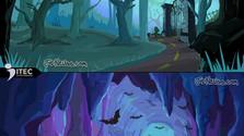 Monster Game Art Backgrounds