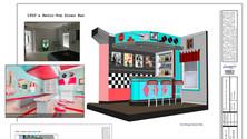 50's Retro-Pop Diner Bar